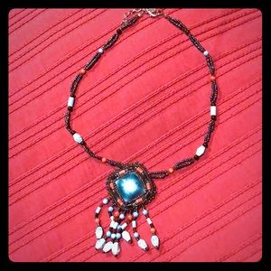 Beaded Native American inspired necklace